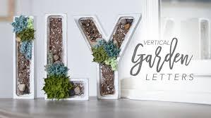 Home Vertical Garden by Faux Vertical Garden Letter Diy Home Decor Chrstphrblk Youtube