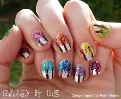 nailed it nz tree of life ombre nails inspired by robin moses