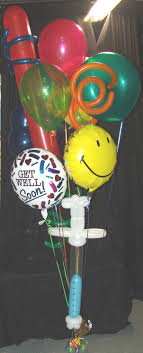 denver balloon delivery get well balloon bouquet with syringe party balloons