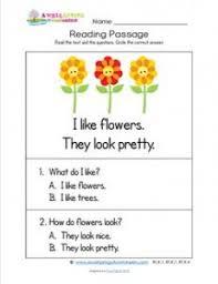 kindergarten reading passage kindergarten reading passages flowers a wellspring