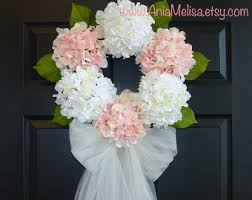 spring wreaths for front door hydrangea wreath etsy