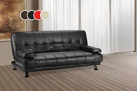 Milan Leather Sofa by Faux Leather Sofa Bed 4 Colours