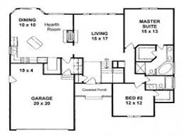 simple square house floor plans 1400 square foot home plans 1400