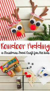 rudolph reindeer pudding red pom poms brown paint and craft sticks