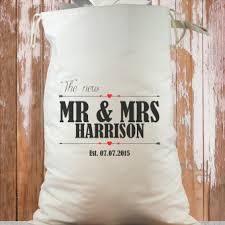 personalised wedding sacks