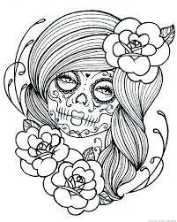 dead flower coloring page dia de los muertos coloring pages printable printable coloring pages