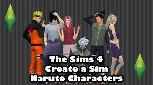 the sims 4 create a sim anime character tag naruto characters