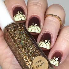thanksgiving nail art tutorial 60 fall nail art trends to start wearing now pumpkin nail art