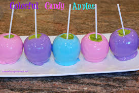 how to make colorful candy apples periodic tables