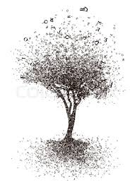 cognition tree isolated on white background computer graphic