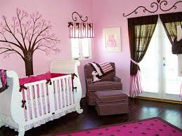 awesome pink and purple girl baby bedroom decoration using light awesome pink and purple girl baby bedroom decoration using light pink tree baby nursery room wall mural including rectangular pink and black polka dot rug