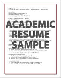 Sample Faculty Resume by Resumes Career Services University Of Nebraska U2013lincoln