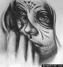 day of the dead with hat tattoo design