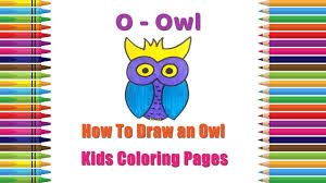 how to draw an owl coloring pages alphabets coloring pages