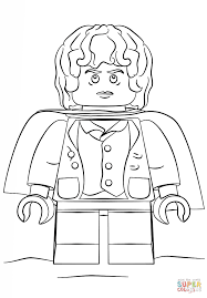 lego hobbit coloring pages lego frodo coloring free printable