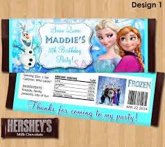 Frozen Invitation Cards Disney Frozen Candy Bar Wrappers Frozen Candy Wrapper