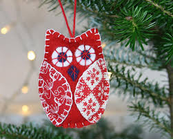 owl ornaments bird ornaments handmade