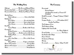 wedding program outline template wedding program templates from thinkwedding s print your own