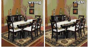 stylish area rug under dining table and what size rug to use for