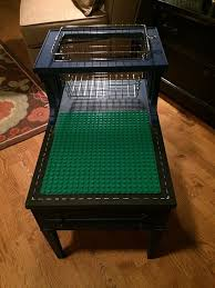 turn an old piece of furniture into a clever lego table with