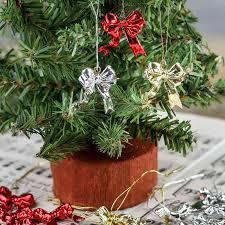 miniature metallic bow ornaments ornaments