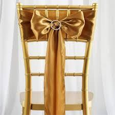 chair sash ties satin chair sash 6x106 gold 5pcs efavormart