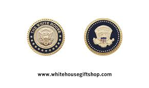 presidential white house seal lapel pin set sculpted 24kt gold