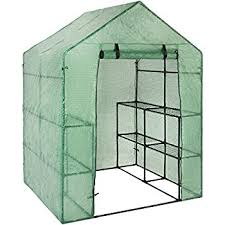Buy A Greenhouse For Backyard Amazon Com Ogrow Deluxe Walk In 6 Tier 12 Shelf Portable