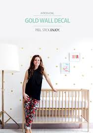 gold wall decal new on the shop trendy peastrendy peas