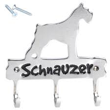 amazon com schnauzer metal wall mounted key hanger bag holder