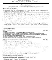 Finance Resume Examples by Fantastic Finance Resume Examples 9 17 Best Images About Finance