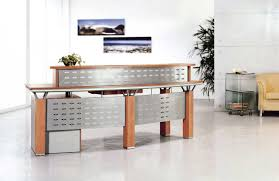 Esquire Glass Top Reception Desk Reception Office Desks Adorable Office Reception Desks Also Home