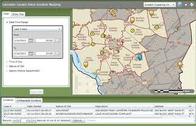 lancaster county gis map mapping system shows criminal activity in lancaster county
