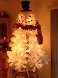 Bethlehem Lights Snowman by Snowman Christmas Tree I Took A 6ft Tree And Covered In White