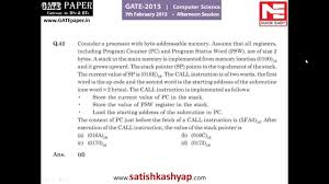 gate 2015 question paper with answer key cse 7th feb afternoon gate 2015 question paper with answer key cse 7th feb afternoon