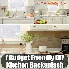 top 7 budget friendly diy kitchen backsplash ideas diy home things