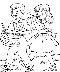 12 days of christmas coloring page kids drum band in fourth of july coloring pages fourth of july
