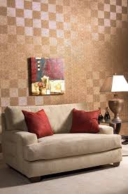 paint or wallpaper mirroflex quadro in cracked copper textured laminate wall