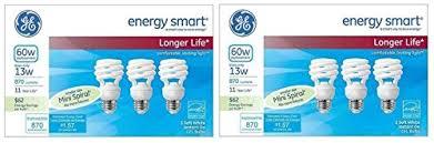 ge energy smart cfl light bulbs 13 watt 60w equivalent ge energy smart 13 watt soft white compact fluorescent t2 light