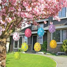 easter decoration easter eggs tree for indoor and outdoor and