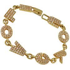 gold love you bracelet images I love you quot gold charm bracelet for sale at 1stdibs jpeg