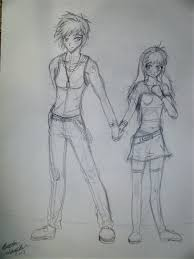 couple sketch 2012 by silveraruka on deviantart