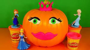 Halloween Decorations Pumpkins Play Doh Princess Halloween Decorating Pumpkin With Playdough Do