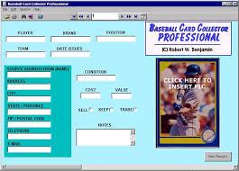 baseball card template 18 free printable sample