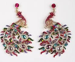 gaudy earrings peacock earrings them so gaudy pretty peacocks