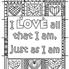 inspirational quote custom printable coloring page quote