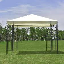 For Living Gazebo Cover by 10 U0027 X 10 U0027 Outdoor Square Steel Frame Gazebo Canopy Tent Canopies