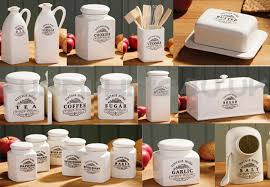 details about new vintage cream kitchen breakfast storage canister