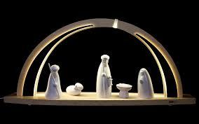 wooden nativity set tietze candle arches from zwönitz erzgebirge