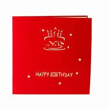 online shop birthday cake candle design greeting card 3d